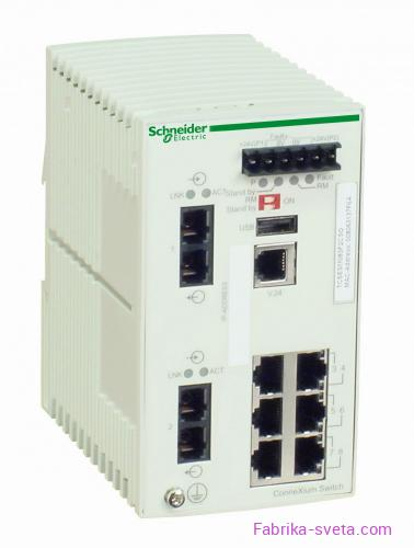 Коммутатор connexium (managed) 6tx/2fx-m Schneider Electric купить с доставкой фото 2