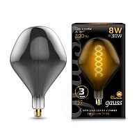 Лампа Gauss 163802008 LED Vintage Filament Flexible SD160 8W E27 160*270mm Gray 2400K 1/6 — LM collection