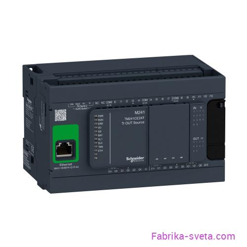 Базовый блок m241-24io транзист источник ethernet Schneider Electric купить с доставкой
