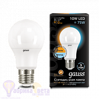 Лампа Gauss LED A60 10W E27 930lm 2700K/4100K CTC 1/10/50