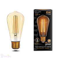 Лампа Gauss LED Filament ST64 E27 8W Golden 740lm 2400К 1/10/40