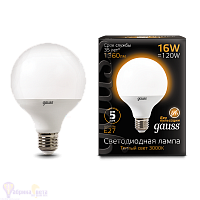 Лампа Gauss LED G95 E27 16W 1360lm 3000K 1/32