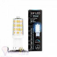 Лампа Gauss LED G9 AC185-265V 3W 300lm 4100K 1/20/200 диммируемая
