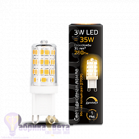 Лампа Gauss LED G9 AC185-265V 3W 280lm 2700K 1/20/200 диммируемая