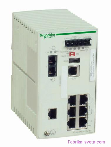 Коммутатор connexium (managed) 7tx/1fx-m Schneider Electric купить с доставкой фото 3