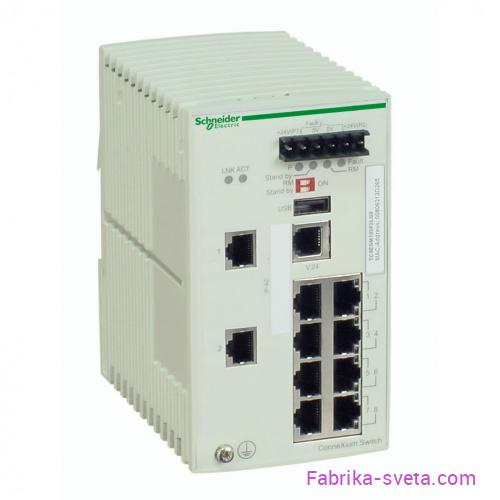 Коммутатор connexium (managed) 8tx/2sfp Schneider Electric купить с доставкой фото 2